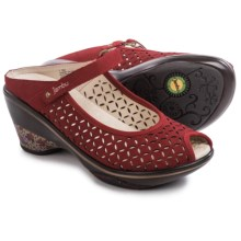 Jambu Journey Encore Wedge Shoes - Nubuck (For Women) in Red - Closeouts