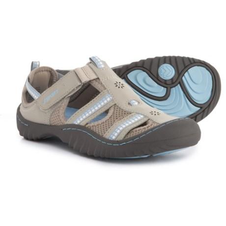 Jambu JSport Regatta Comfort Sport Sandals (For Women) in Light Grey/Stone Blue