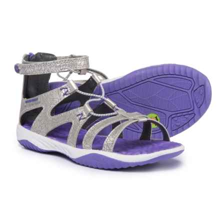 Jambu KD Leilani Sandals (For Girls) in Silver/Purple - Closeouts