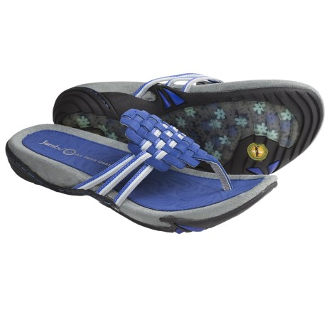Jambu Leaf Sandals - Leather (For Women) in Cobalt