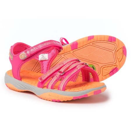 Jambu Lowi Sport Sandals (For Little and Big Girls) in Fuchsia / Coral