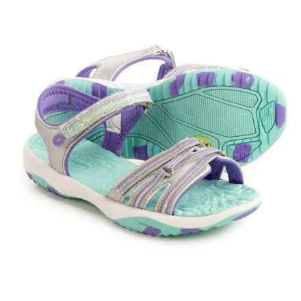 Jambu Lowi Sport Sandals (For Little and Big Girls) in Silver - Closeouts
