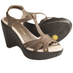 Jambu Marble T-Strap Sandals - Leather (For Women) in Taupe