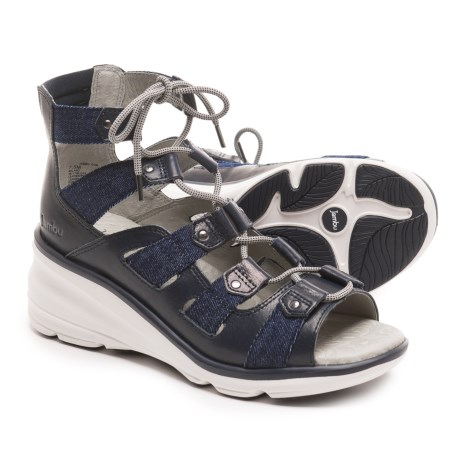 Jambu Milano Gladiator Sandals (For Women) in Navy