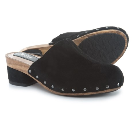 Jambu Monaco Clogs - Suede (For Women) in Black Solid