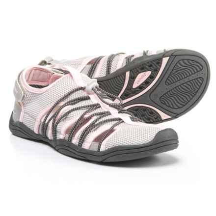Jambu Newton Bungee Sport Sandals - Slip-Ons (For Women) in Light Grey/Petal - Closeouts