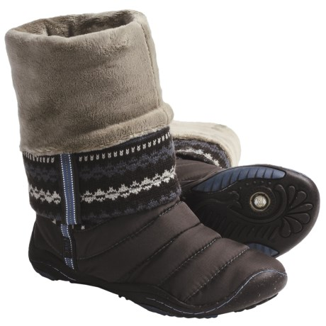Jambu Nottingham Knit Boots - Fleece Lining, Recycled Materials (For Women) in Brown