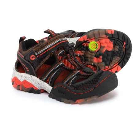 Jambu Piranha Sport Sandals (For Boys) in Brown/Red - Closeouts