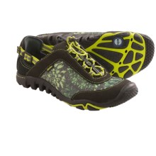 Jambu Raven Air-Vent Shoes - Amphibious, Leather (For Women) in Kiwi/Charcoal - Closeouts