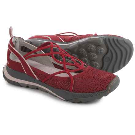 Jambu Reign Shoes - Nubuck (For Women) in Red - Closeouts