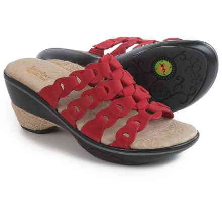 Jambu Romance Wedge Sandals - Leather (For Women) in Red - Closeouts