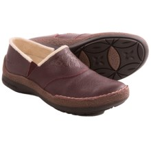 Jambu Ruby Fur Shoes - Leather (For Women) in Burgundy - Closeouts