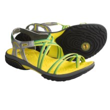 Jambu Runner Sandals - Vegan (For Women) in Silver/Kiwi - Closeouts