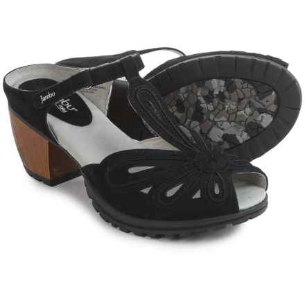 Jambu Sahara Sandals - Suede (For Women) in Black - Closeouts