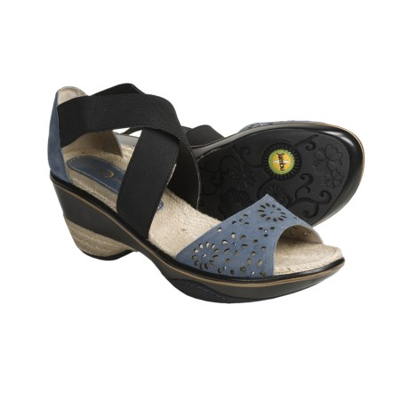 Jambu Santa Fe Wedge Sandals (For Women) in Blue