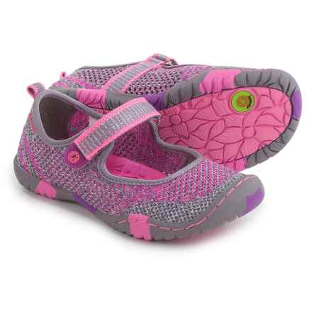 Jambu Sora 2 Mary Jane Shoes (For Little and Big Girls) in Grey/Pink - Closeouts
