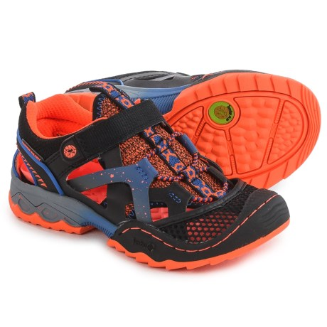 Jambu Squamata Watersport Sport Sandals (For Little and Big Boys) in Black/Orange