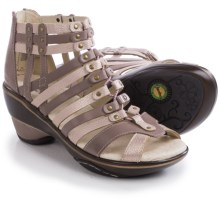 Jambu Sugar Wedge Sandals - Nubuck (For Women) in Champagne/Mocha Metallic - Closeouts