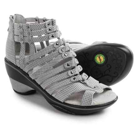 Jambu Sugar Wedge Sandals - Nubuck (For Women) in Cool Water/Black Polka Dot - Closeouts