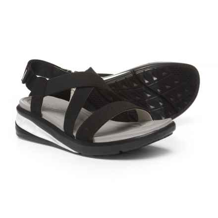 Jambu Sunny Stretch X-Band Sandals (For Women) in Solid Black - Closeouts