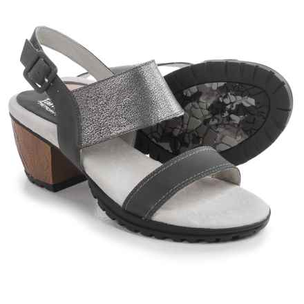 Jambu Sunstone Leather Sandals (For Women) in Gunmetal - Closeouts