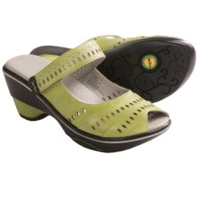 Jambu Touring-Too Shoes - Leather, Sport Wedge Heel (For Women) in Sage - Closeouts