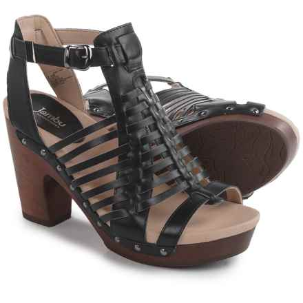 Jambu Valentina Sandals - Leather (For Women) in Black - Closeouts