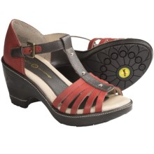Jambu Velvet Sandals - Leather, Wedge Heel (For Women) in Red - Closeouts
