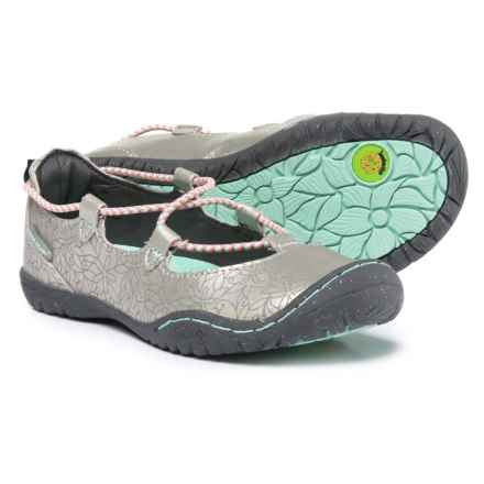 JambuKD Ayami Mary Jane Shoes - Vegan Leather (For Girls) in Silver/Aqua - Closeouts