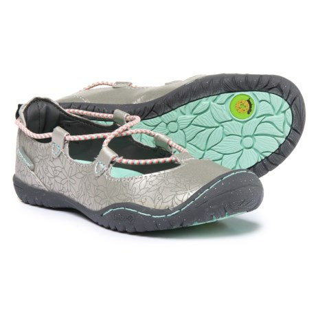 JambuKD Ayami Mary Jane Shoes - Vegan Leather (For Girls) in Silver/Aqua