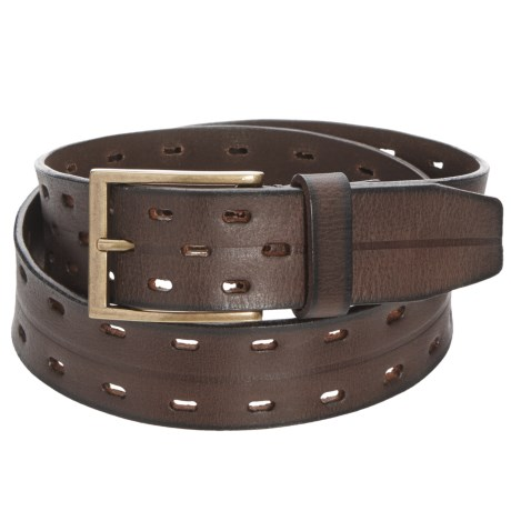 "James Campbell 2-Hole Perforated Belt - Leather, 1-1/2"" (For Men) in Brown"