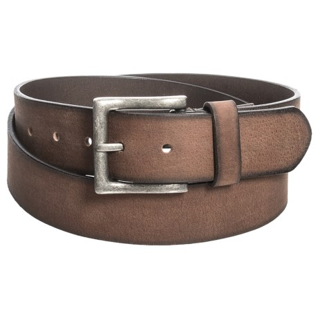 James Campbell 38mm Washed Leather Belt (For Men) in Brown