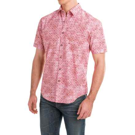 James Campbell Atlas Shirt - Cotton, Short Sleeve (For Men) in Flamingo - Closeouts