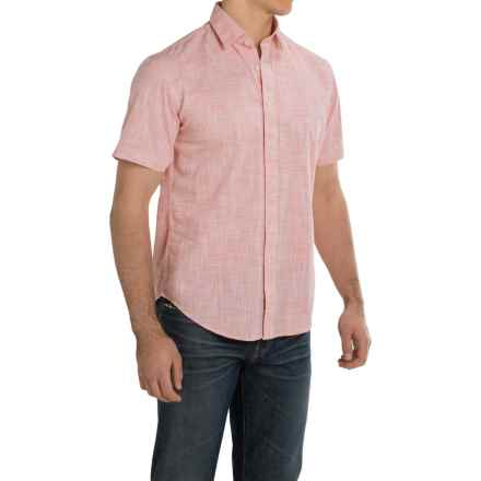 James Campbell Bistro Shirt - Cotton, Short Sleeve (For Men) in Punch - Closeouts