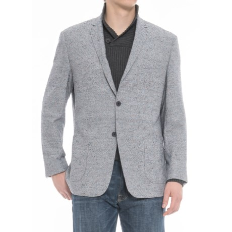 James Campbell Boucle Sport Coat (For Men) in Blue Donegal
