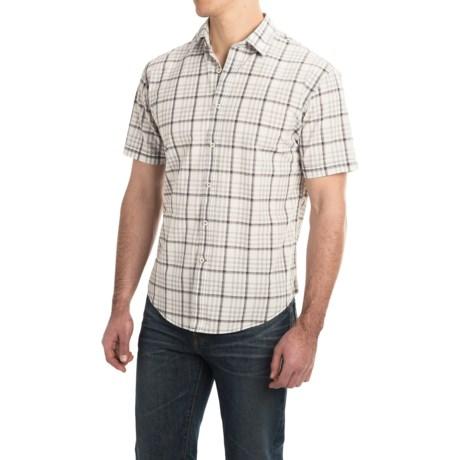 James Campbell Mens Bruno Cotton Plaid Shirt