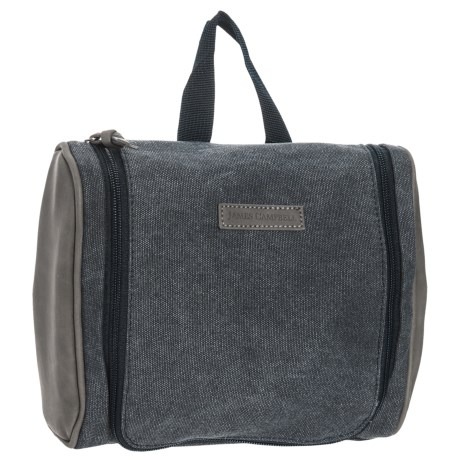 James Campbell Canvas Travel Kit - Large (For Men) in Black