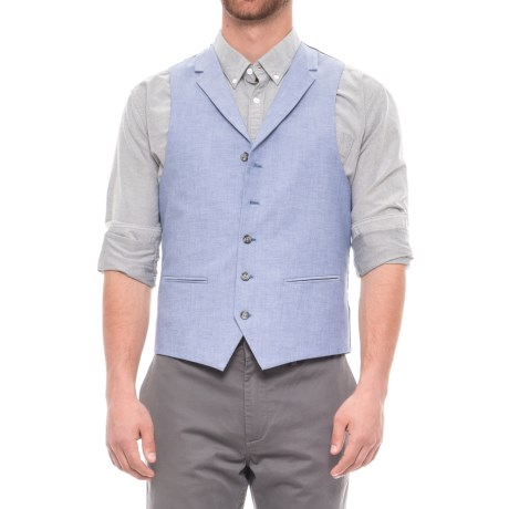 James Campbell Chambray Vest (For Men) in Blue