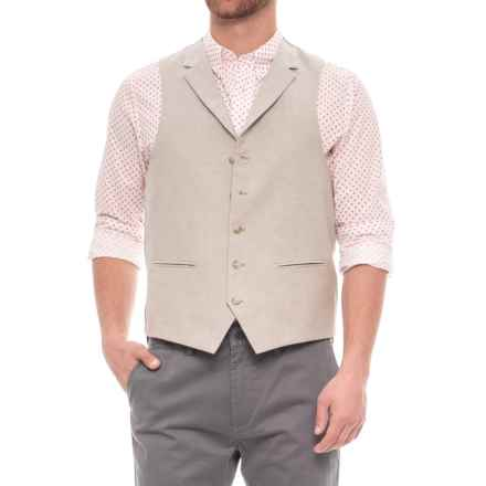 James Campbell Chambray Vest (For Men) in Tan - Closeouts