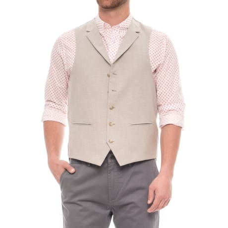 James Campbell Chambray Vest (For Men) in Tan