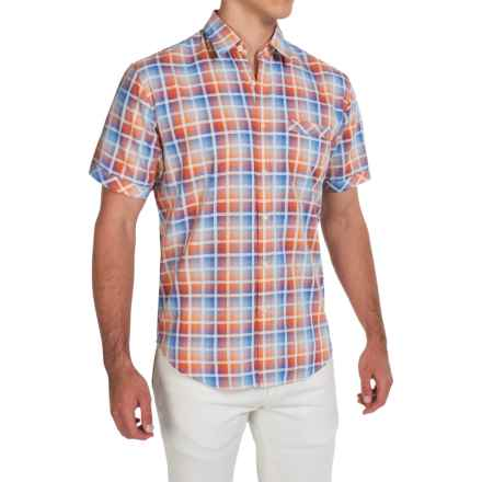 James Campbell Chimala Plaid Shirt - Short Sleeve (For Men) in Orange - Closeouts