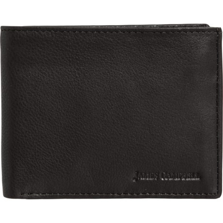db7204967d82 James Campbell Genuine Pebble Leather Slim Bifold Wallet with ...