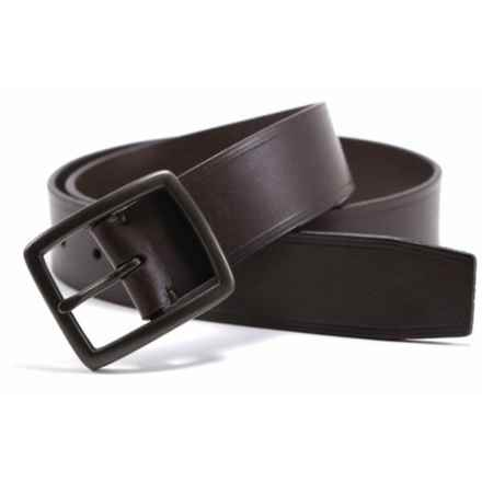 James Campbell Heat Crease Detail Belt - Leather (For Men) in Brown - Closeouts