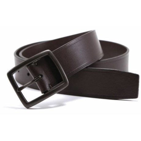 James Campbell Heat Crease Detail Belt - Leather (For Men) in Brown