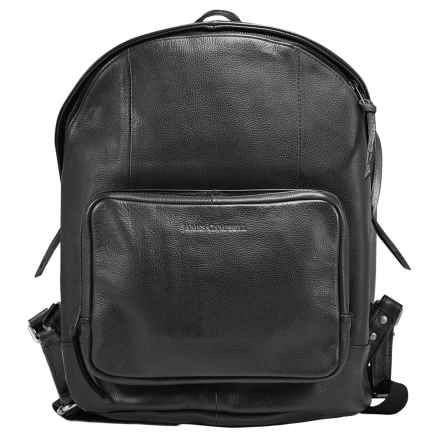 James Campbell Leather Backpack in Black - Closeouts