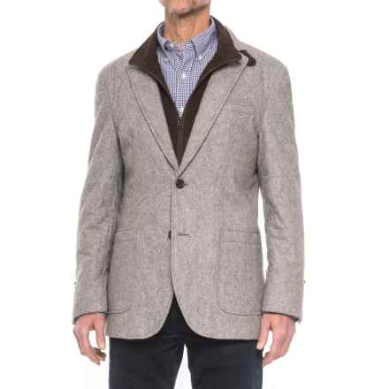 James Campbell Quilted Sport Coat - Removable Bib Placket (For Men) in Grey - Closeouts