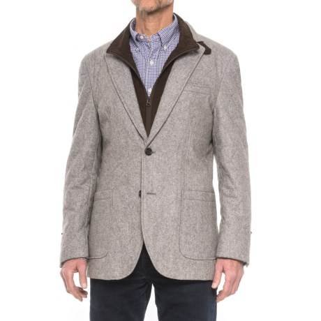James Campbell Quilted Sport Coat - Removable Bib Placket (For Men) in Grey