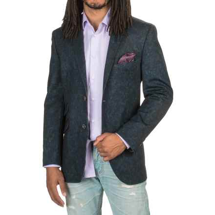James Campbell Raw-Edge Knit Sport Coat (For Men) in Navy - Closeouts