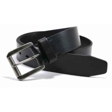 James Campbell Roller Buckle Belt - Leather (For Men) in Black - Closeouts