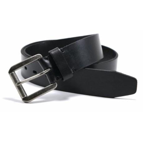 James Campbell Roller Buckle Belt - Leather (For Men) in Black